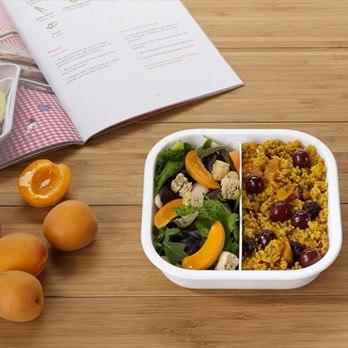 Lunchboxen mit Unterteilung