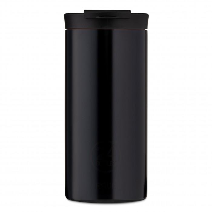 24Bottles Travel Tumbler Thermobecher 0,6 l schwarz. Design Coffee to go Becher. Isolierbecher, Edelstahlbecher tuxedo black.