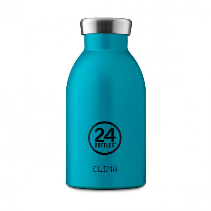 24Bottles Thermosflasche / Isolierflasche 0,33 L CLIMA aus Edelstahl, atlantic bay - kleine Trinkflasche