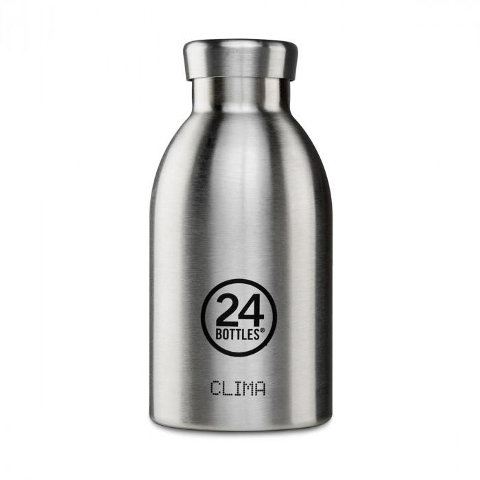 24Bottles Thermosflasche / Isolierflasche 0,33 L CLIMA aus Edelstahl, steel - kleine Trinkflasche