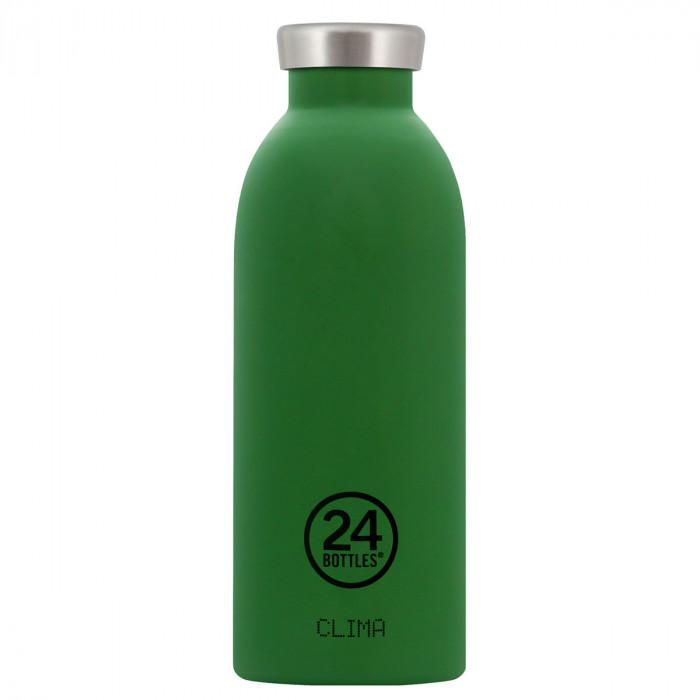 Thermosflasche / Isolierflasche CLIMA von 24Bottles - dunkelgrün - Edelstahl