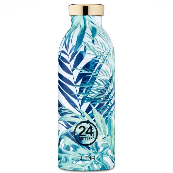 Thermosflasche mit tollem Blätterdesign LUSH von 24bottles - Edelstahl Isolierflasche