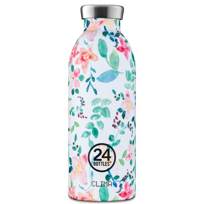 24Bottles Thermosflasche / Isolierflasche 0,5 L CLIMA aus Edelstahl, little buds - Blumen Print - Mini Flowers - stehend