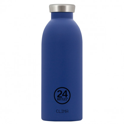 Dunkelblaue Edelstahl Thermosflasche 0,5L CLIMA, gold blue - 24Bottles