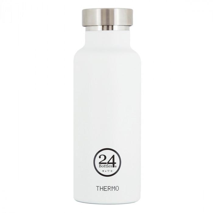 Thermosflasche in weiß von 24Bottles