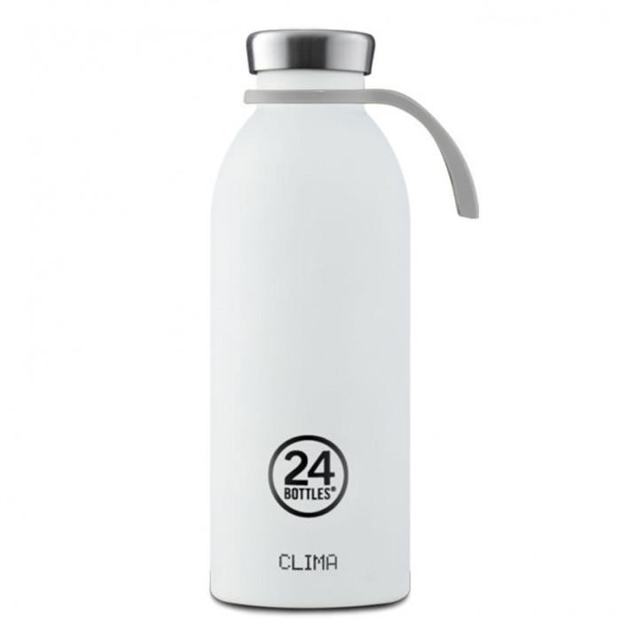 BOTTLE TIE ist die praktische Trageschlaufe aus hellgrauen Silikon für die Trinkflaschen-Modelle URBAN und CLIMA von 24Bottles.