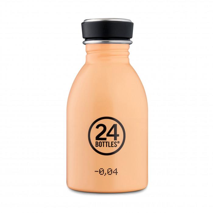 Kleine Trinkflasche für Kinder und Erwachsene mit 250 ml Füllvolumen. Modell: Trinkflasche URBAN peach orange 0,25 Liter. Auslaufsicher, robust, BPA-frei ...