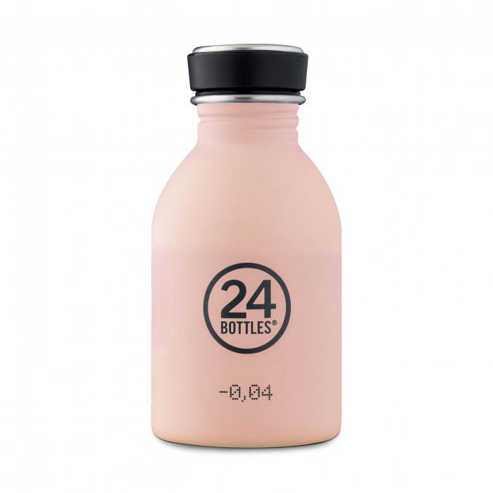 Kinder Trinkflasche 0,25 l dusty pink mit Schraubdeckel. 24Bottles URBAN Trinkflaschen aus Edelstahl - auslaufsicher, BPA-frei ...