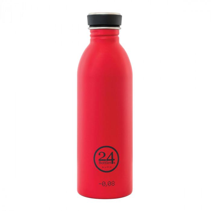 Trinkflasche 0,5 Liter hot red (rot) aus Edelstahl von 24Bottles.