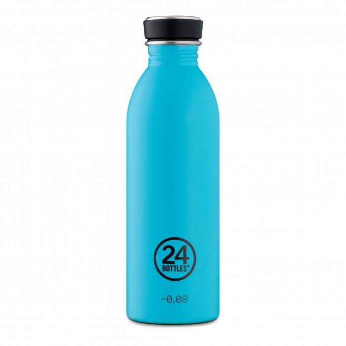 24Bottles Edelstahl Trinkflasche hellblau 0,5 Liter URBAN. Edelstahlflasche lagunen blau.