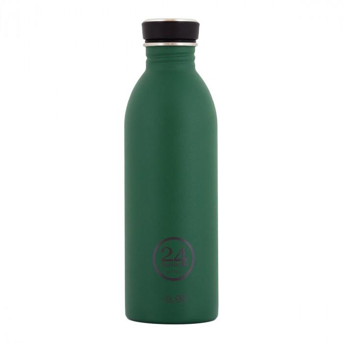 Dunkelgrüne Trinkflasche 0,5L URBAN aus Edelstahl, jungle green - 24Bottles