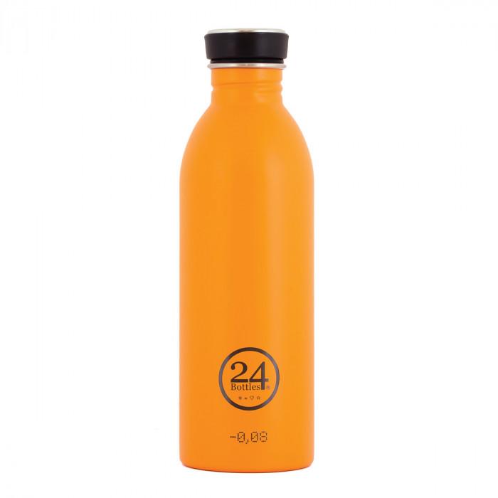 Trinkflasche orange aus Edelstahl von 24Bottles