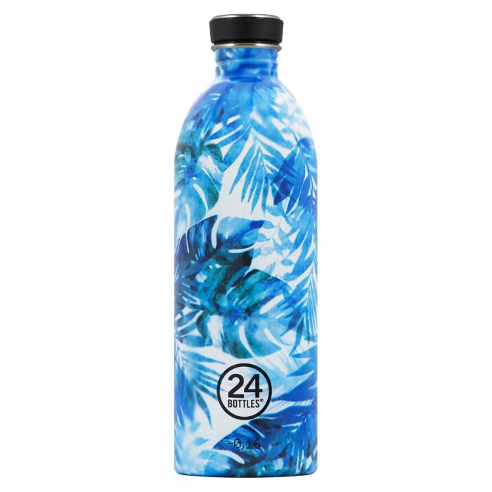 Trinkflasche 1 Liter URBAN aus Edelstahl, Flower - Sonderedition