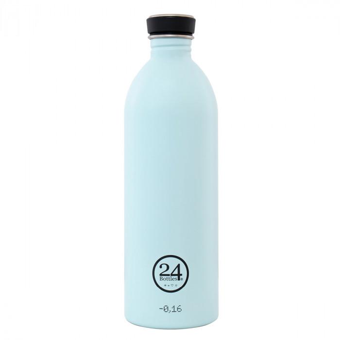 Trinkflasche 1 Liter aus Edelstahl in hellblau (cloud blue) von 24bottles.