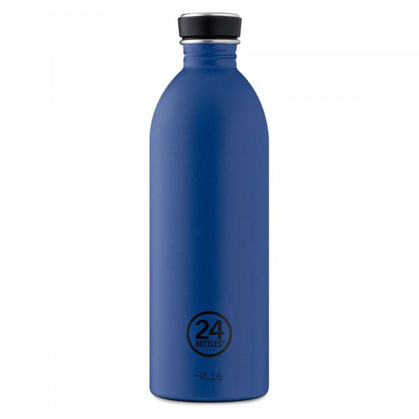 24Bottles Trinkflasche URBAN gold blue. Edelstahlflasche dunkelblau 1 Liter. BPA-frei, auslaufsicher ...