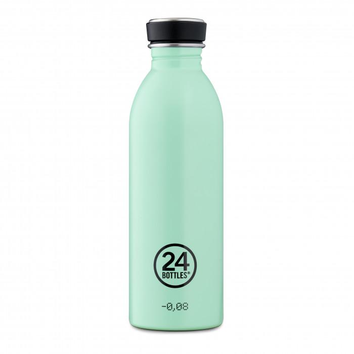 Trinkflaschen von 24Bottles - Model 0,5 l URBAN in aqua grün. BPA-freie, auslaufsiche Edelstahltrinkflasche. Design Trinkflaschen.