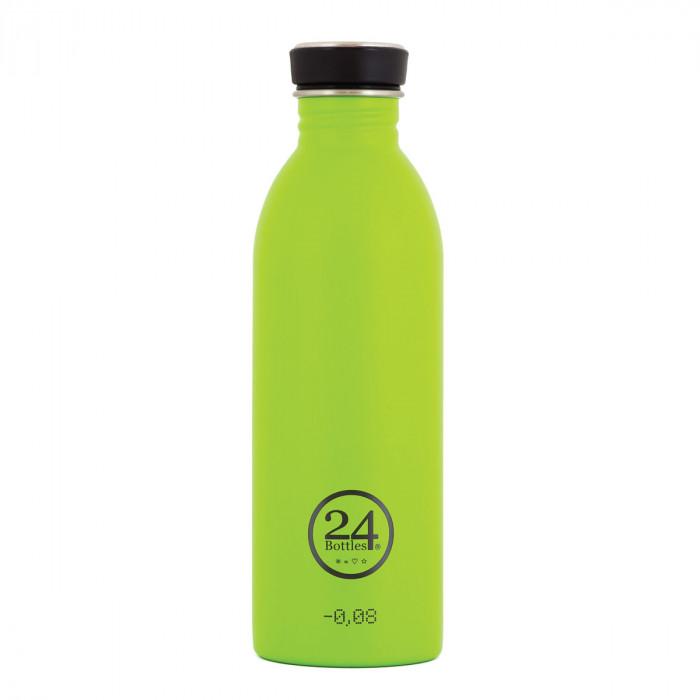 Trinkflasche 0,5 Liter lime grün aus Edelstahl von 24Bottles.