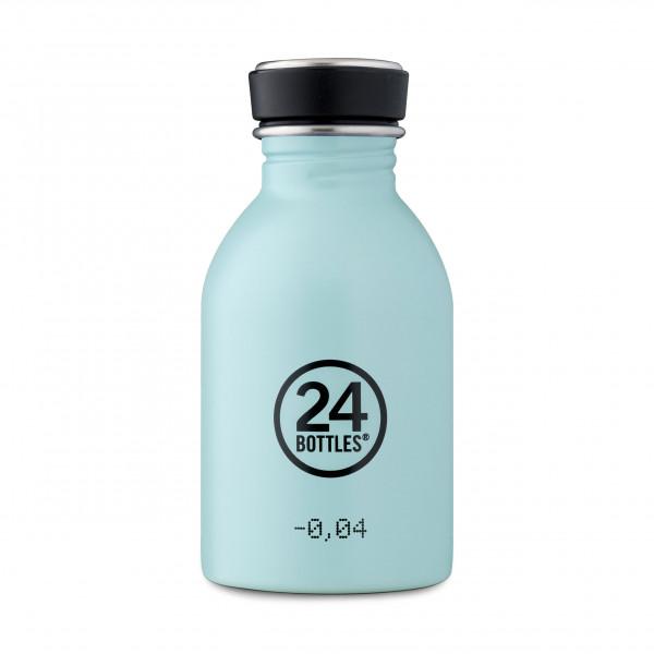 24 Bottles Trinkflasche. Kleine Design Edelstahlflasche cloud blue - Kindertrinkflasche blau mint - BPA-frei, Edelstahl, auslaufsicher, ...