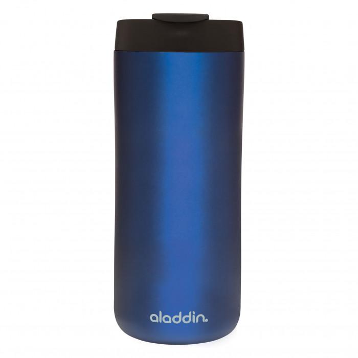 Doppelwandige Thermobecher 0,35 L Thermavac™ mit 100% dichtem Leak Lock Verschluss und Sicherheitsverriegelung - Isolierbecher in blau - Coffee to go Becher - aladdin Design