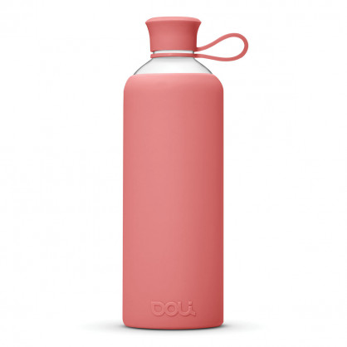 DOLI Design Trinkflasche aus Glas - Rose