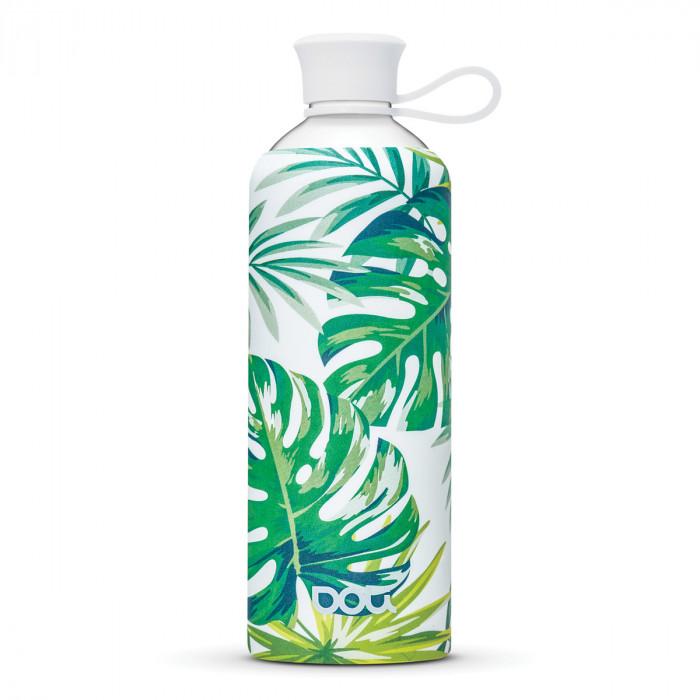 Tropica Design Trinkflasche mit Blättern und Palmen Muster von DOLI.