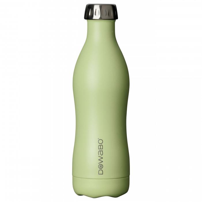 Isolierflasche Edelstahl 500 ml, grasshopper - DOWABO Trinkflasche hellgrün