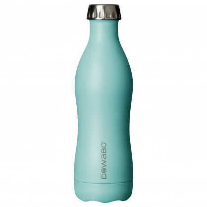 Isolierflasche Edelstahl 500 ml, swimming pool - DOWABO Trinkflasche hellblau - Cocktail Serie