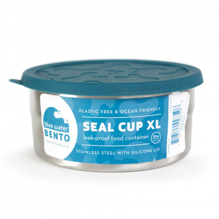 Runddose Edelstahl mit Silikondeckel - SEAL CUP XL