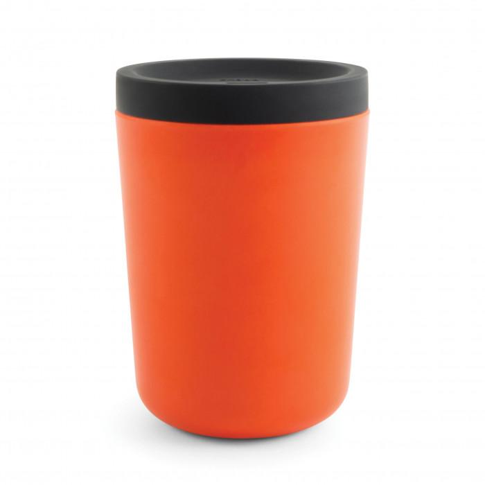 EKOBO to go Becher Takeaway Persimmon aus Bambus mit Silikondeckel. Der orange Kaffee Mehrwegbecher für den täglichen Gebrauch!