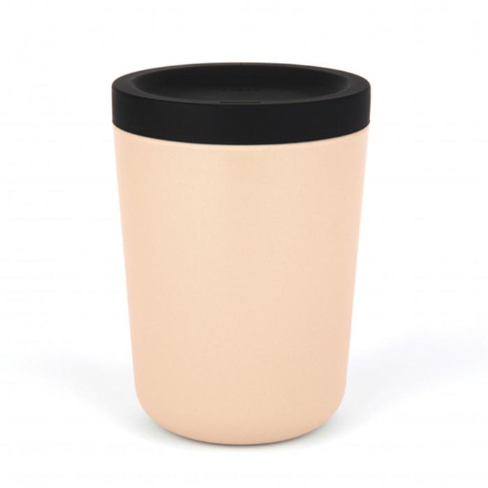Coffee to go Becher 350 ml von EKOBO. Kaffeebecher aus nachhaltigem Kunststoff - Kaffee Mehrwegbecher in blush (zartes rosé).