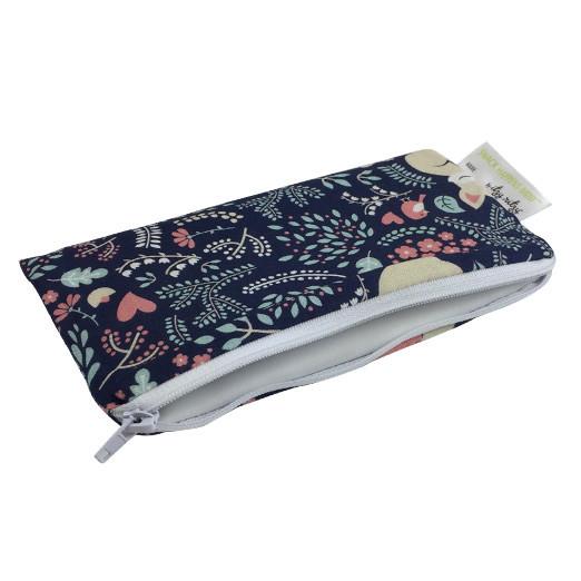 Mini Snackbag von itzy ritzy - wiederverwendbare Snack- und Lunchtüte mit Fuchsprint. Snacktasche mit Reißverschluss.