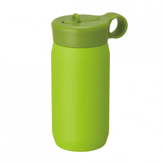 Doppelwandige Kindertrinkflasche 300 ml PLAY TUMBLER grün. Edelstahl Trinkflasche Kinder. Thermosflasche KINTO.