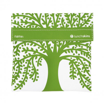 lunchbag - sandwichbag - Brotzeittüte - lunchskins - Modell green Tree