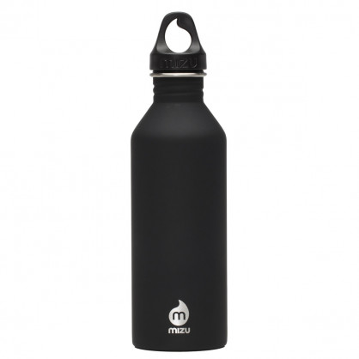 Edelstahl Trinkflasche M8 Enduro in schwarz von MIZU Design.