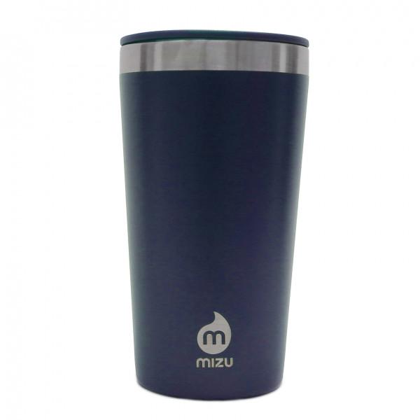To go Trinkbecher T16 von MIZU: doppelwandiger Thermobecher aus Edelstahl in blau für Kaffee, Tee, Säfte und mehr.