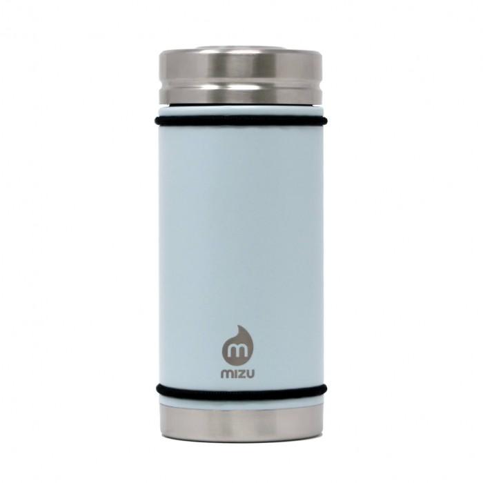 Hellblauer to go Thermobecher V5 von MIZU Design. Füllvolumen 450 ml. Auslaufsicher und BPA-frei.