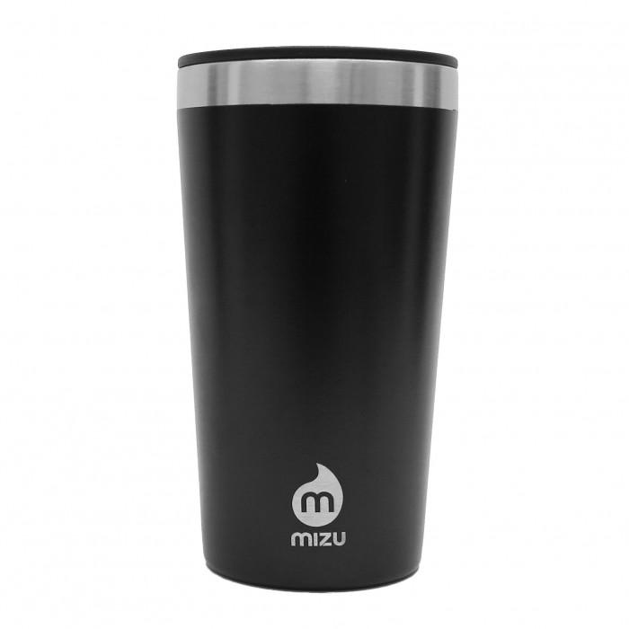 MIZU T16 Tumbler in schwarz. Doppelwandiger Thermobecher aus Edelstahl.