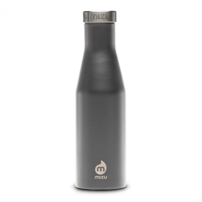 Thermosflasche Slim S4 Edelstahl 415 ml, Enduro grau - Front.