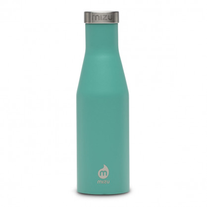 Thermosflasche Slim S4 Edelstahl 415 ml, Enduro spearmint (mint)- Front.