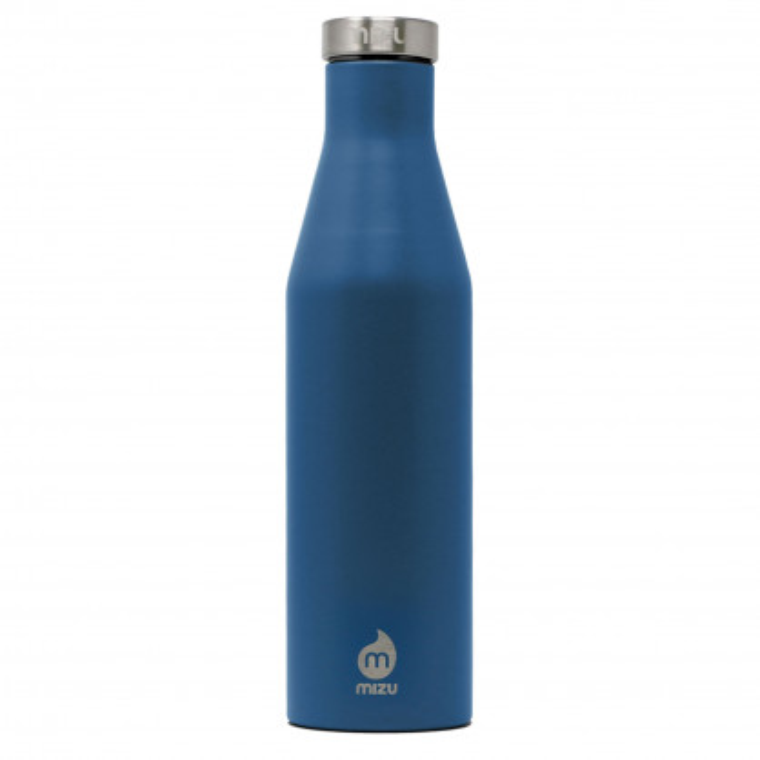 Thermosflasche S6 Slim-Line von MIZU Design. Doppelwandige Trinkflasche in ocean blue. Schlanke Isolierfalsche - BPA-frei, geschmacks- und geruchsneutral.