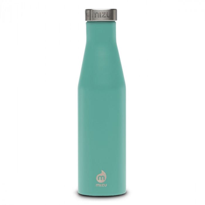 Thermosflasche Slim S6 Edelstahl 600 ml von MIZU, Enduro mint - Trinkflasche Front.