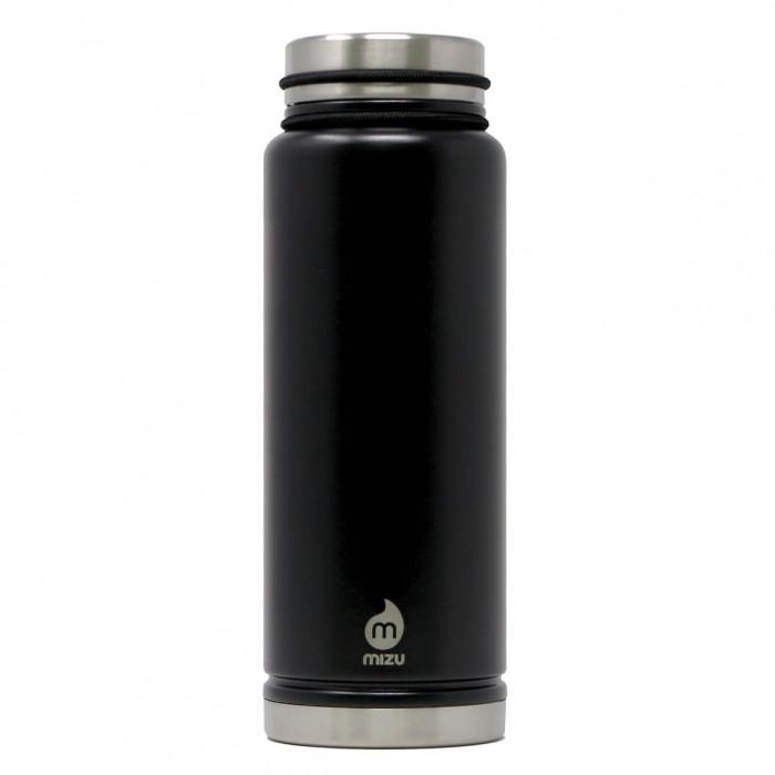 Thermosflasche V12 Edelstahl 1080ml Enduro black von MIZU Design.  Doppelwandige Isolierflasche groß schwarz.