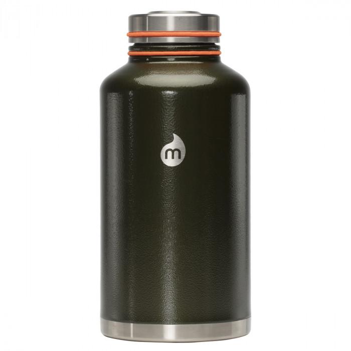 Große Thermosflasche V20 Edelstahl 2000ml - MIZU Design - Hammer Army Green