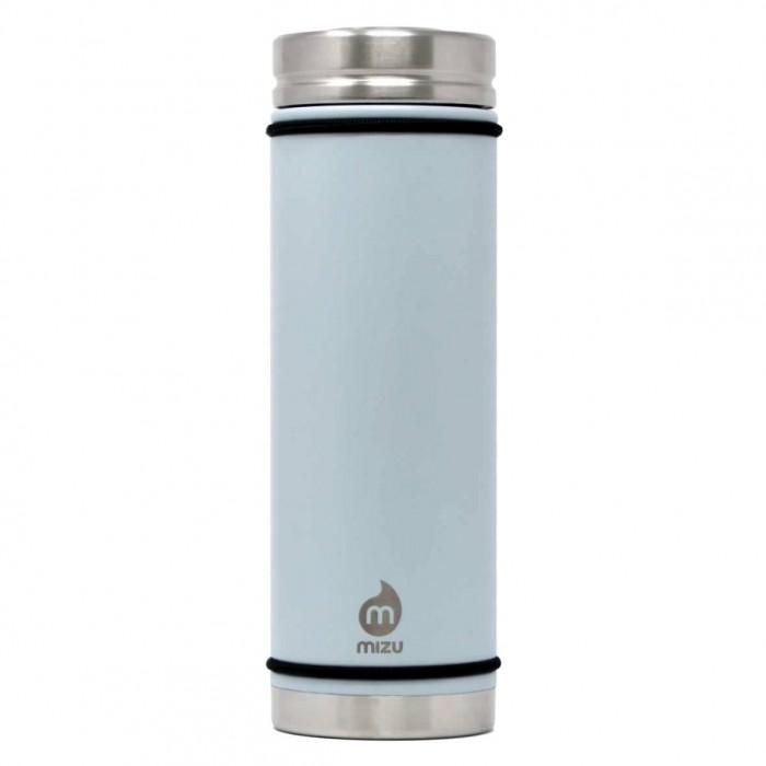 MIZU Thermosflasche V7 in hellblau von MIZU Design. BPA-freie, auslaufsichere Isolierflasche aus Edelstahl - ice blue.