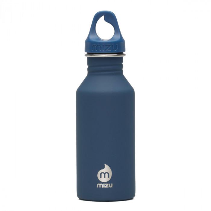 Trinkflasche M4 in dunkelblau von MIZU Design - mit Soft Touch Oberfläche - Edelstahl.