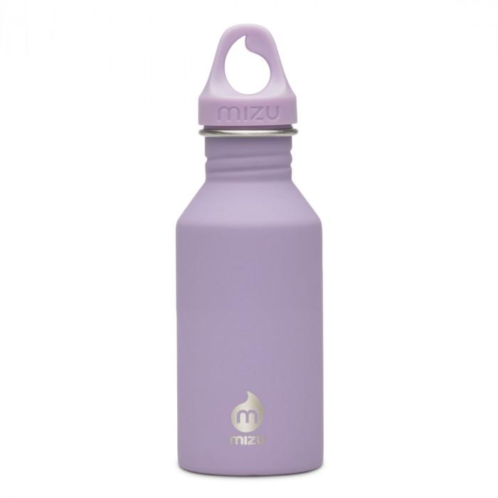 Trinkflasche M4 in flieder von MIZU Design - mit Soft Touch Oberfläche - Edelstahl.