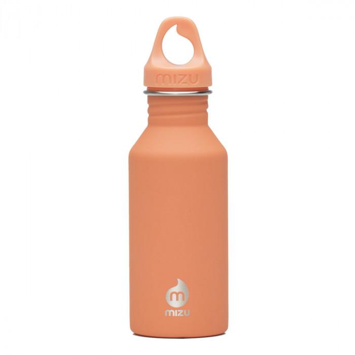 M4 Trinkflasche in peach (orange) aus Edelstahl von MIZU Design. Kleine Trinkflasche für Kinder und Erwachsene.