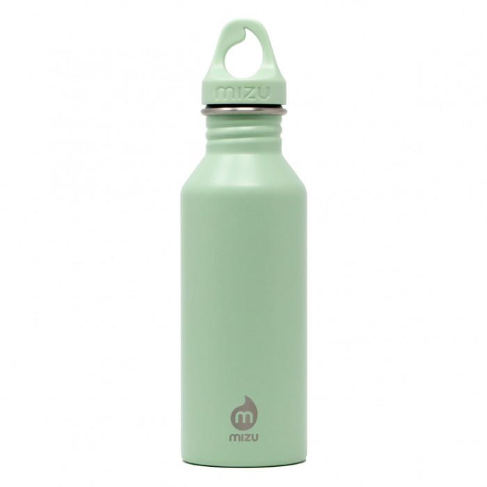 Trinkflasche Edelstahl 0,5 Liter sea glass von MIZU. Design Edelstahlflasche M5 in lindgrün - BPA-frei, auslaufsicher, rostfrei, lebensmittelecht, ...
