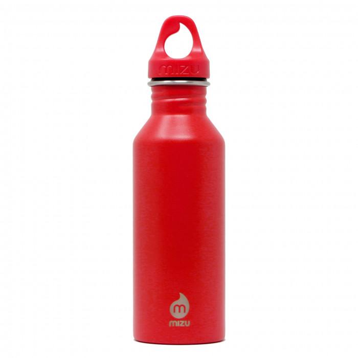 Rote Trinkflasche M5 von MIZU mit 500 ml Volumen. Edelstahlflasche - robust, leicht, auslaufsicher, BPA-frei, ... MIZU Design.