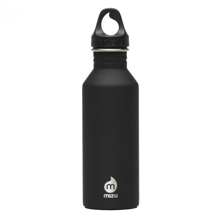 Schwarze Trinkflasche aus Edelstahl - Modell M5 Enduro von MIZU Design - 500 ml.
